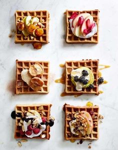 "The ""What do These Walls Hide Waffles"", different toppings for all of us."