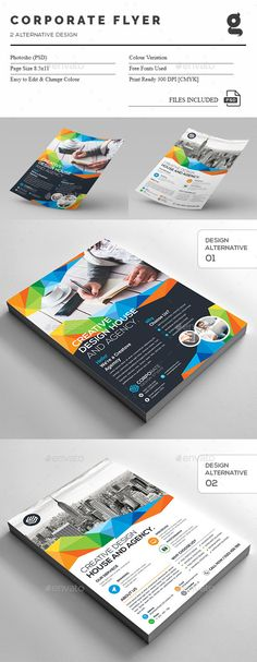Psd Business Flyer On Behance  Relatrios E Impressos Corporativos