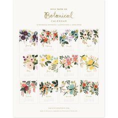 2012 Rifle Botanical Calendar