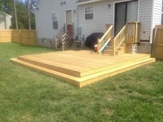 Liking the wide step idea for back door leading to for Building a low profile deck