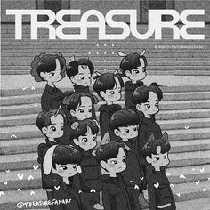 "☁️Violéts☁️ trên Instagram: ""💎 TREASURE NEW START 💎 ⠀ #TREASURE #트레저 #NEWSTART #YG"" Doodle Drawings, Cute Drawings, Adore U, New Start, Kpop Fanart, Treasure Boxes, Yg Entertainment, K Idols, Boy Groups"