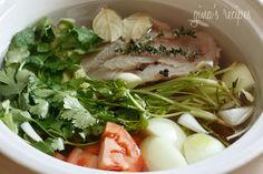 Homemade Chicken Broth From Your Crock Pot - this is so easy and better than throwing things in the fridge away.