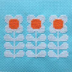 Cross Stitch Pattern 'Retro Flowers in a Row' PDF by HollieHarris