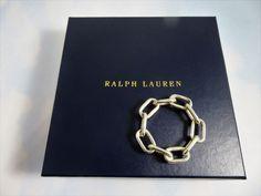 Ralph Lauren Ramsden Silver Plated Chain Link Napkin Rings Set Of 4 NIB RARE! #RalphLauren