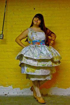 Map Dress by Roswitha Gugliotta-Kremer