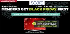 Sears: Black Friday Prices ONLINE tonight (11/20) at 6PM CST!