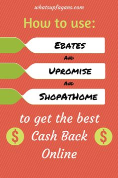 A cash back sites comparison of Ebates, Upromise, and ShopAtHome.com, plus how cash back sites work, how to use them, and where they can be used. Getting cash back is such a smart way to save and make money online.
