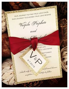 Abigail suite styled fancy glitter package pinterest red wedding invitations red and gold glitter wedding invitation red invitations gold invitations wedding invitation monogram invitation stopboris Images