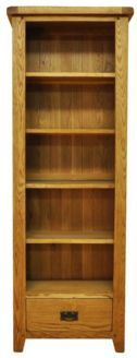 Stamford Rustic Country Oak CD/ DVD Open Bookcase