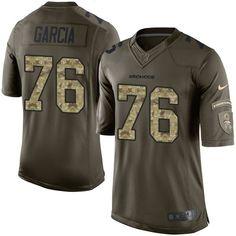 Men s Nike Denver Broncos  76 Max Garcia Elite Green Salute to Service NFL  Jersey Basketball 6bde13141