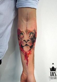 Check out Colorful lion tattoo or other lion forearm tattoo designs that will blow your mind, tattoo ideas that will be your next inspiration. Cool Forearm Tattoos, Forearm Tattoo Design, Great Tattoos, Beautiful Tattoos, Body Art Tattoos, Hand Tattoos, Tattoos For Guys, Tatoos, Tattoo Art