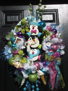 Front Door Wreath Christmas Door Wreath Xmas by hollyhillwreaths Christmas Gifts For Friends, Christmas Themes, Christmas Crafts, Christmas Decorations, Xmas, Holiday Decor, Christmas Door Wreaths, Holiday Wreaths, Handmade Market
