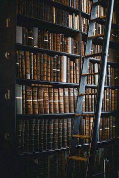 Books, books and more antique books ~ Trinity College, Dublin, Ireland