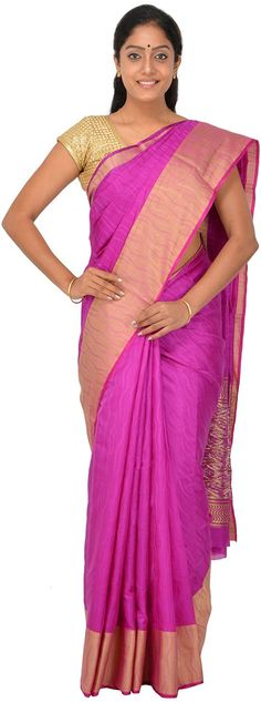POTHYS Women's Tussar Silk Saree (PDS418, Magenta): Amazon : Clothing & Accessories  http://www.amazon.in/gp/product/B0166XFZ68/ref=as_li_tl?ie=UTF8&camp=3626&creative=24822&creativeASIN=B0166XFZ68&linkCode=as2&tag=onlishopind05-21  #Pothys #Silk #Sarees