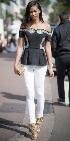 Look of the Day - May 25, 2014 - Chanel Iman in Sass & Bide from #InStyle