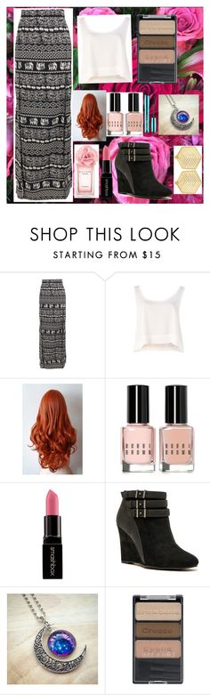 """""""Roses"""" by fangirlwriter ❤ liked on Polyvore featuring Boohoo, MINKPINK, Bobbi Brown Cosmetics, Tommy Hilfiger, Smashbox, Qupid, Wet n Wild and Kasturjewels"""