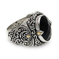 """Gothic Wedding Rings - """"Strength of Character"""" Men's Sterling Silver and Onyx Ring #gothicweddingrings"""