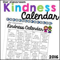FREE 2016 Kindness Calendar!