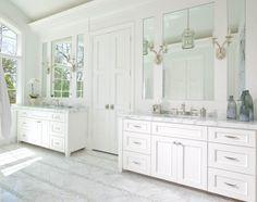 Ellen Grasso Inc - transitional - Bathroom - Dallas - Ellen Grasso & Sons, LLC floor Bad Inspiration, Bathroom Inspiration, Bathroom Ideas, Bathroom Wall, Bathroom Cabinets, Bath Ideas, Light Bathroom, Bathroom Modern, Basement Bathroom