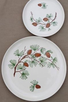 Image result for pine tree dishes & 17 Piece Stetson Pine Cone Dishware Set | Pine cone Dinnerware and Pine