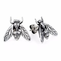Hoverfly Ear Studs | Yasmin Everley Jewellery | Wolf & Badger