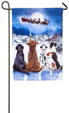 This is a 44 in. x 28 in. double-sided indoor / outdoor flag with Christmas design. Fits standard size flag pole, not included. Packaged in poly bag with header card. Flag is weather and fade resistant and makes a great gift for a loved one. Christmas Garden Flag, Christmas Dog, Christmas Design, Outdoor Christmas, Christmas Gifts, Outdoor Flags, Outdoor Dog, Indoor Outdoor, Holiday Themes