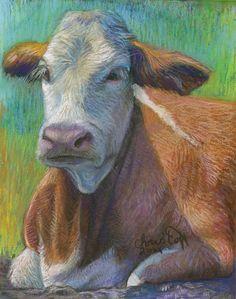 "Emily Christoff's Daily Paints: ""Taco"" Animals, 8 x 10"", Pastel, $150.00"