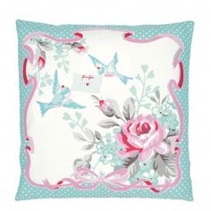 GreenGate Greetings Mint Cushion Cover