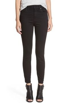 Free shipping and returns on Madewell 'High Riser' Skinny Skinny Jeans (Black Frost) (Regular & Tall) at Nordstrom.com. Ink-black skinny jeans create long, lean lines in a high-waist style with slightly cropped hems.