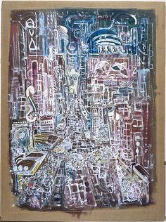 Mark Tobey (American, 1890–1976). Broadway, 1935-36. The Metropolitan Museum of Art, New York. Arthur Hoppock Hearn Fund, 1942 (42.170) #newyork #nyc