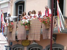 Cafe Farina Orotava during a 2015 Romeria street celebration.
