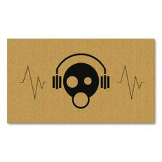 Create your own dj business cards online all templates are industry a cool cardboard dj icon business card reheart Gallery