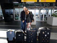 Cris e JC - Aeroporto de Guarulhos SP - destino Marrocos e Península Ibérica (Espanha e Portugal)