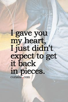 Broken heart ...happens in love....it sure does hurt! opens healing to ultimate joy to commitment with no doubts ...❤️