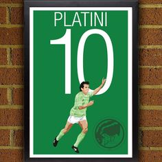 Michel Platini Poster - AS Saint-Étienne  - Platini Soccer Poster- 8x10, 13x19, poster, art, wall decor, Saint Etienne FC Art Work, Platini #soccer #wallart #decor #canvas #art #poster #graphicdesign #soccerart #football #futbol #etsy #g17 #graphics17 #etsy