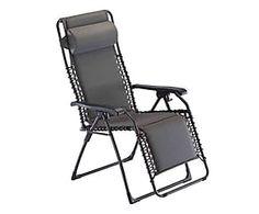 Poltrona reclinabile in acciaio Movida grigio - 118x112x66 cm