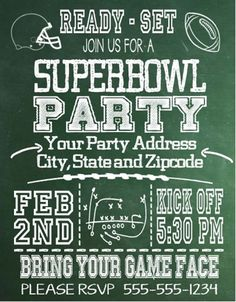 DIY Super Bowl Invitation Template from DownloadandPrint http