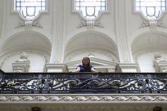 Na Biblioteca Nacional, em Santiago, Chile
