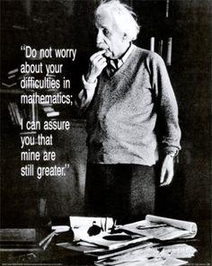 Poster voor wiskundelokaal #AlbertEinstein