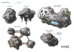 Image result for Glowing asteroid concept