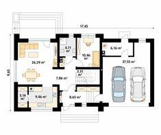 Wolta projekt domu - Jesteśmy AUTOREM - DOMY w Stylu Design Case, Decoration, Building A House, House Plans, Sweet Home, Floor Plans, House Design, How To Plan, House Styles