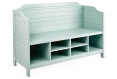 Large Beach House Storage Bench, Seafoam this is the project I envisioned for that wooden chest and headboards