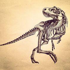 dinosaur skeleton tattoo - Google Search