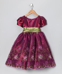 Take a look at this Berry Floral Dress - Toddler & Girls by Cinderella Couture on #zulily today!