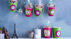 Cadeaux d'assiette : gobelets customisés
