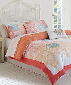 Look at this Sherbert Lace Comforter Set on #zulily today!