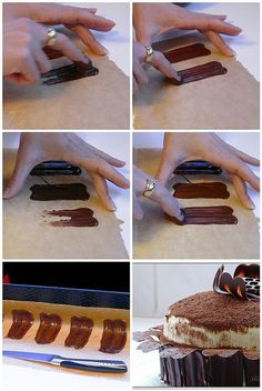 Tiramisu decoration in the process of making by Milena ❧, via Flickr