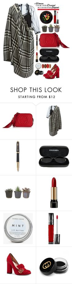 """20.01.16"" by malenafashion27 ❤ liked on Polyvore featuring Chanel, Gucci, Simone Rocha, Parker, Lancôme, Urban Decay, women's clothing, women's fashion, women and female"