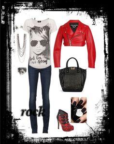 """rock/casual"" by brendakitten ❤ liked on Polyvore"
