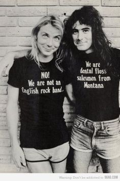 Dave Murray and Steve Harris from Iron Maiden being epic.